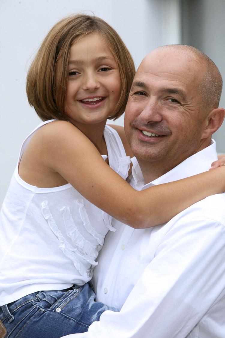 Vater und eine seiner Töchter