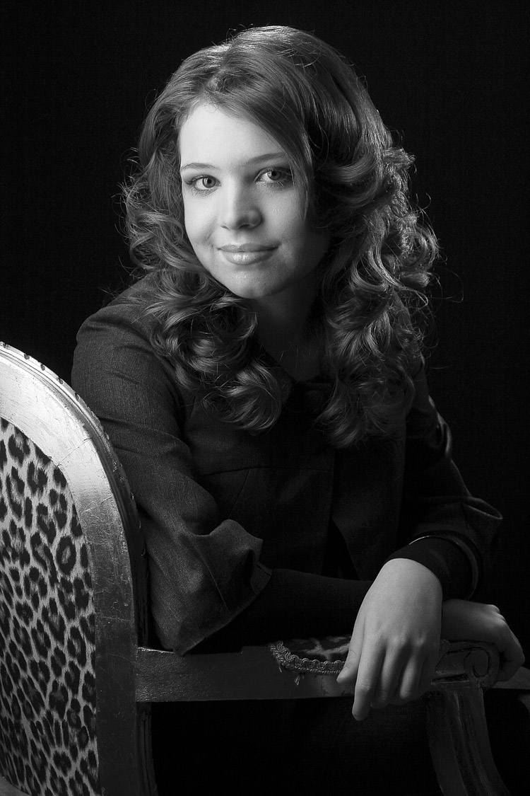 Junge Leute - ein schwarzweißes Portraitfoto
